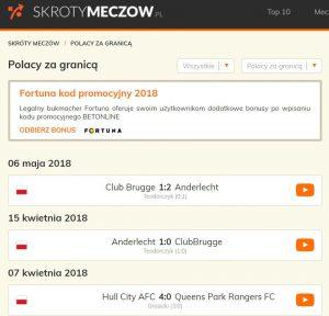 Najbardziej znany portal z golami Polaków za granicą