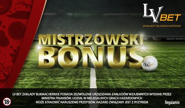 Mistrzowski bonus 200 PLN od LV BET!