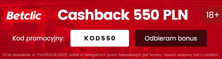 bukmacher betclic nowy bonus 500