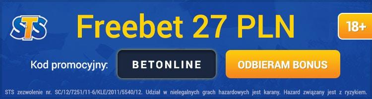 sts freebet 27 pln