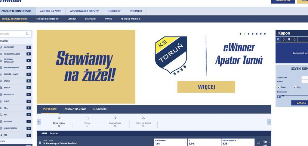 Ewinner - legalny bukmacher w Polsce