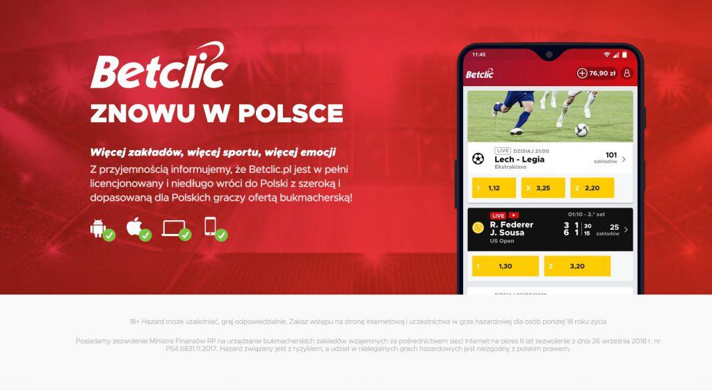 Start BetClic w Polsce - przed nami lipiec 2019!