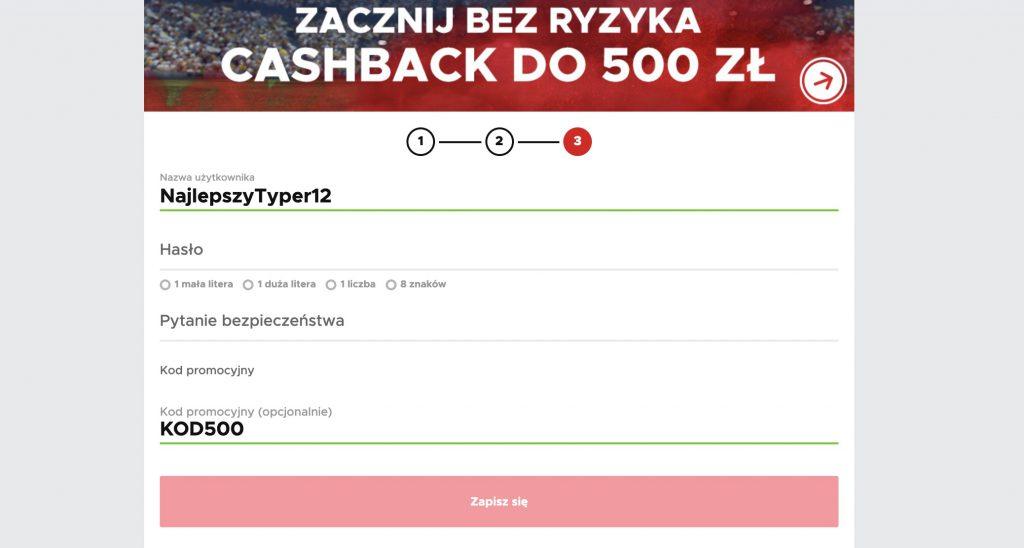 """Bonus powitalny BetClic. 500 PLN - kod promocyjny """"KOD500"""""""