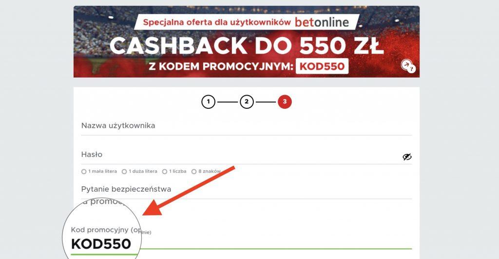 Betclic kod promocyjny. Cashback 550 złotych do odebrania!